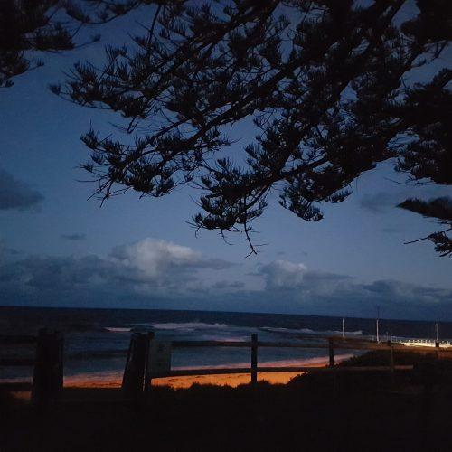 Night falling Mona Vale Beach